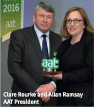 Clare Rourke and Allan Ramsay ATT President